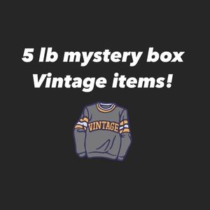 Vintage mystery box!  5 lbs stuffed!